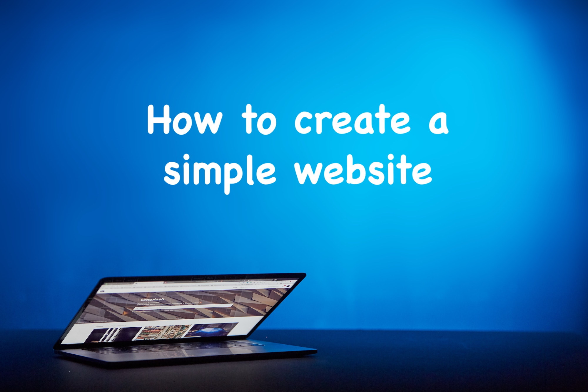How to create and manage a simple website